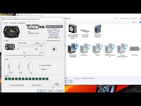 How To Update A Thrustmaster Wheel Driver Or Firmware