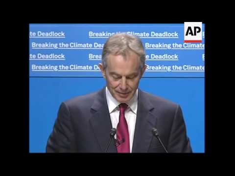 Former UK PM Blair urges world leaders to deal with climate change