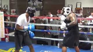 Michael Hunter vs. James Wilson sparring @ Mayweather Boxing Club