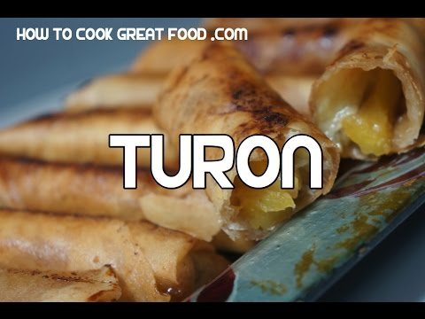 Paano magluto Turon Recipe - Tagalog Pinoy Filipino Video