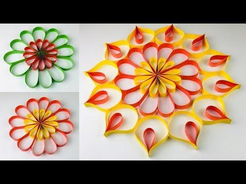 Paper Craft | Paper Rangoli Designs | Paper Craft For Diwali | Diwali Decoration Ideas At Home