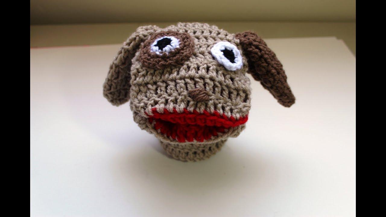 crochet a puppy hand puppet (Marioneta de perrito) - Video 3 (Final ...