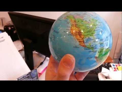 Mova Solar Powered Spinning Globe