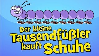 ♪ ♪ Kinderlied Tausendfüßler - Der kleine Tausendfüßler kauft Schuhe - Hurra Kinderlieder