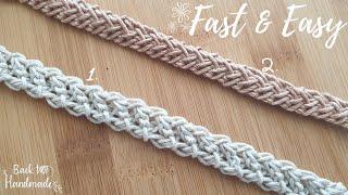 Crochet Bag strap - Crochet lace - Crochet cord - Πλεκτά κορδόνια με βελονάκι - Back to Handmade