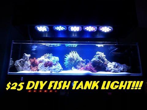 $25 DIY Fish Tank Light!!! (ABI 12 Watt Blue/White Par38)