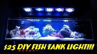 $25 Diy Fish Tank Light!!! (abi 12 Watt Blue/white Par38)