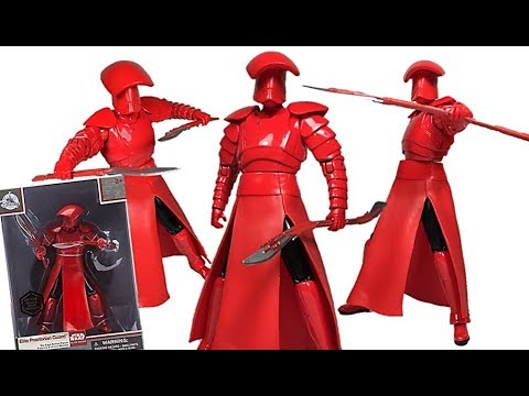 Star Wars The Last Jedi Elite Series Praetorian Guard Die Cast Disney Store Exclusive Figure Review