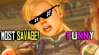 Mortal Kombat 11 Cassie Cage - MOST SAVAGE & FUNNIEST MEANEST INTROS / MK11 All Savage Intros