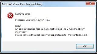 Como resolver o erro C++ Runtime Library na hora de jogar um game.