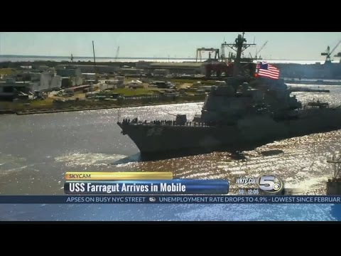 USS Farragut Arrives in Mobile