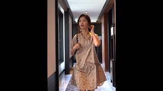 WAWAMOM(특허브랜드) 여성 여름 브이넥 원피스 꽃…