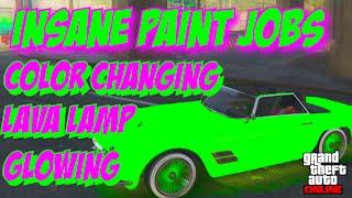 GTA 5 Online: SECRET Car Colors - LAVA LAMP, CHANGING COLOR, GLOWING! RARE Paint Jobs (GTA V)