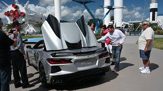 2020 Corvette Convertible Roof Retracting Blade Silver C8