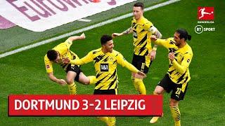 Dortmund vs Leipzig (3-2)   Sancho Stars In Crucial BVB Win   Bundesliga Highlights