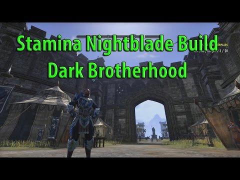 ESO Dark Brotherhood Build Stamina Nightblade