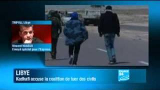 """""""Pas de manifestations anti-Kadhafi à Triopli ce vendredi""""   24 03 11"""