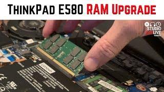 How to upgrade RAM - Lenovo ThinkPad E580