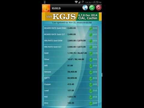 Kerala Gold Rate in App