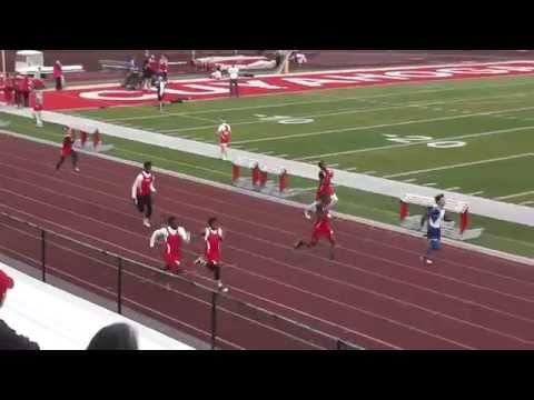 100m - Hearn, Williams, Thuesday, Glover, Hatchett