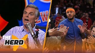 Should Carmelo Anthony be upset that Lonzo Ball is ranked higher than him? | THE HERD