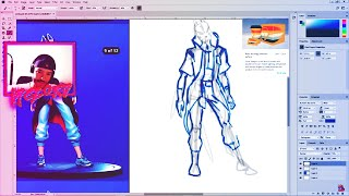 Sunday's Livezinha: How to draw Fortnite skins