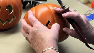 Carving Foam Pumpkins with the Creative Versa Tool