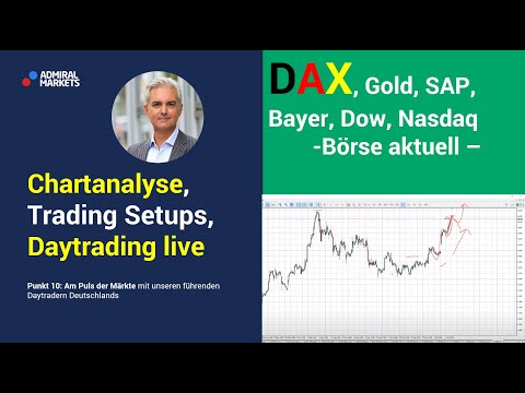 Daytrading & Markttechnik live   DAX   Dow   Gold   Forex   Analyse & CFD Trading 07.07.20