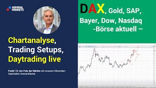 Daytrading & markttechnik live   dax dow gold forex analyse cfd trading 07.07.20