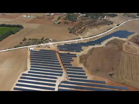 Flight over the biggest Photovoltaic Plant in Cyprus