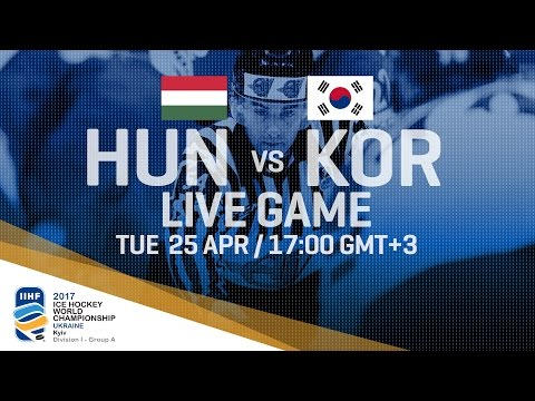 Hungary - Korea | Full Game | 2017 IIHF Ice Hockey World Championship Division I Group A