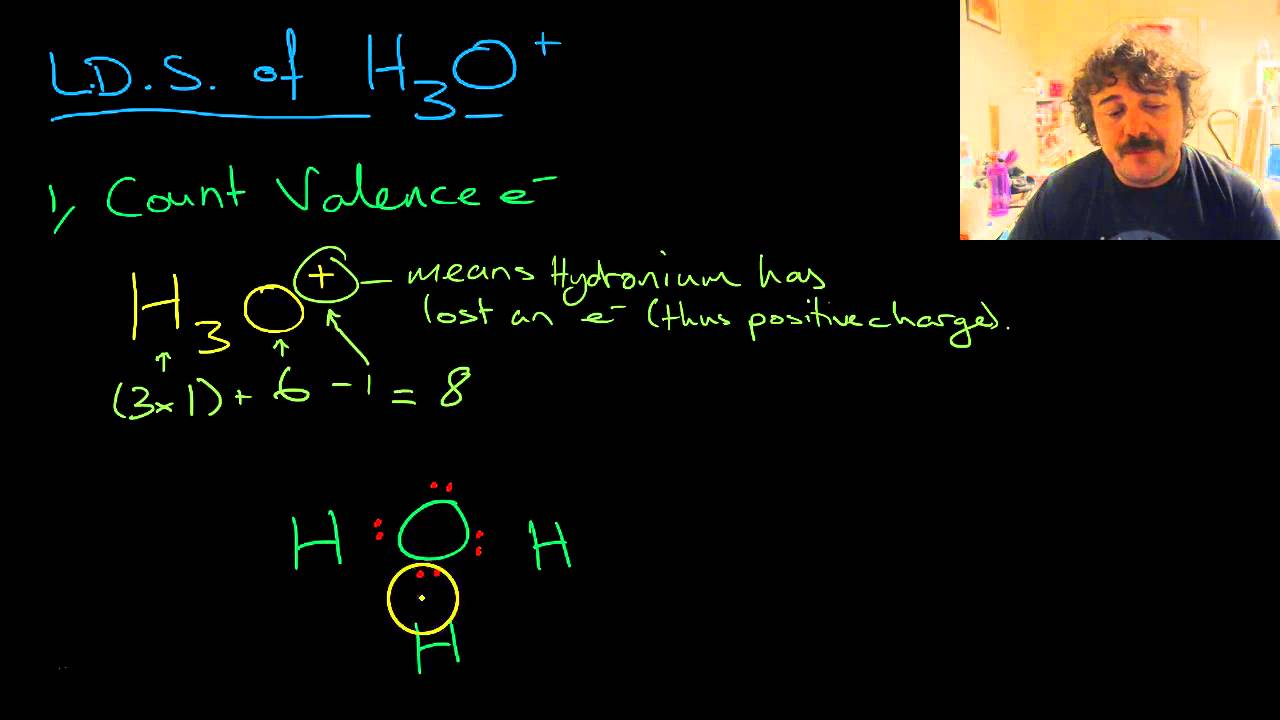 Hydronium Ion Formation And Lewis Dot Structure Youtube