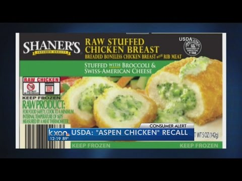 Aspen Foods issues recall for chicken items