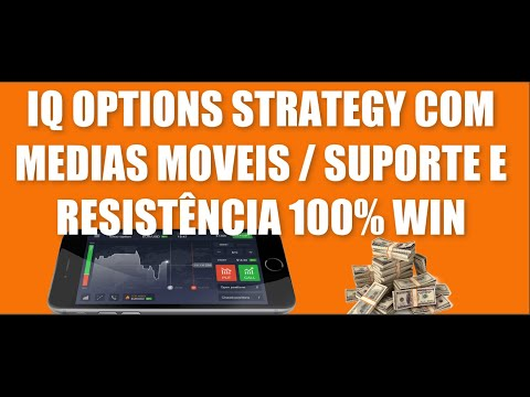 IQ OPTIONS STRATEGY COM MEDIAS MOVEIS E SUPORTE E RESISTENCIA 100% WIN
