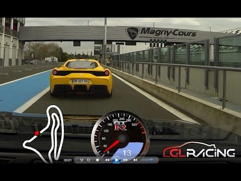 Ferrari 458 Speciale VS Nissan GT-R - Club 911 IDF - Magny Cours F1