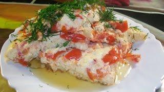 Простой рецепт омлета с помидорами и луком