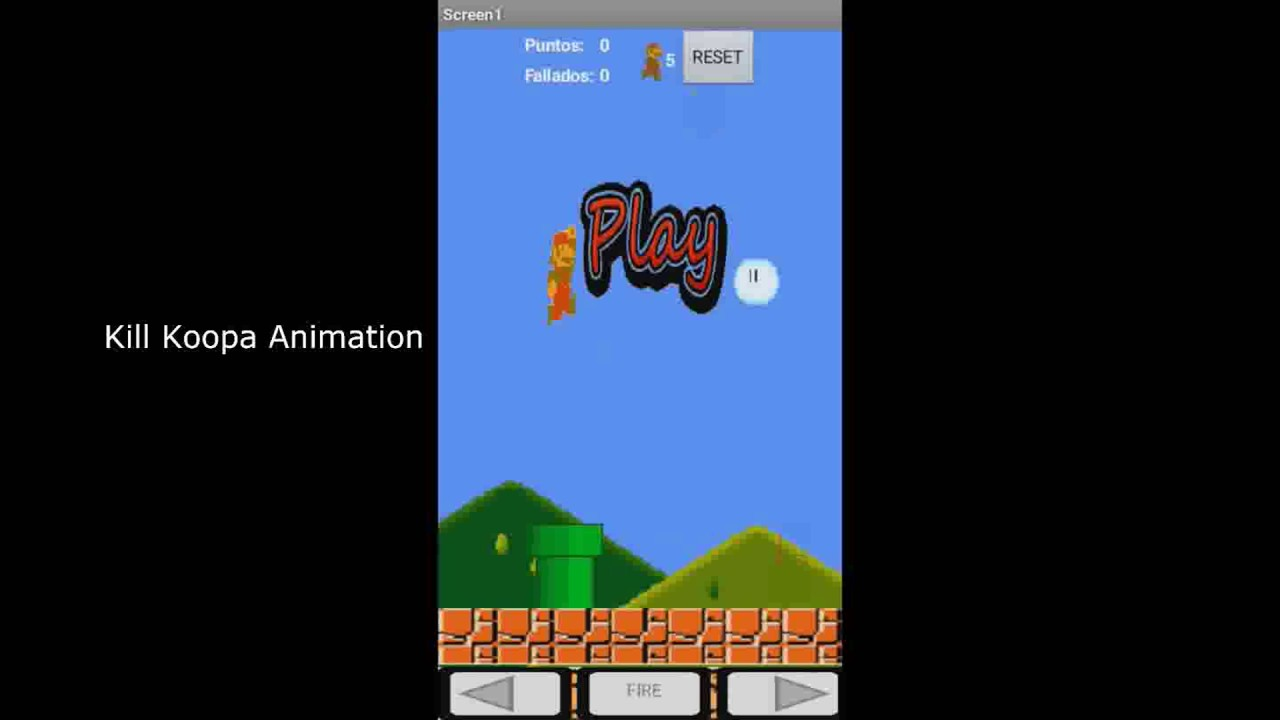 how to make a mario game on app inventor