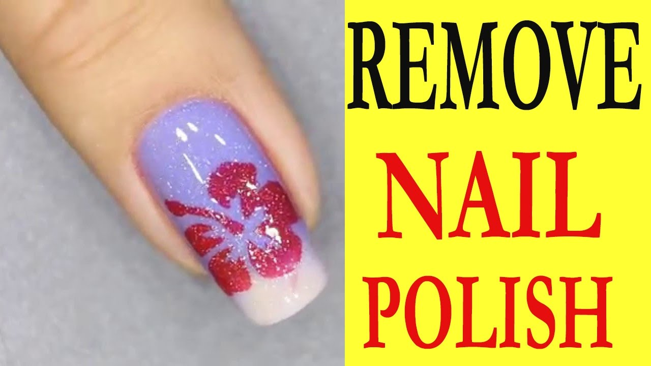 How to remove nail polish - YouTube