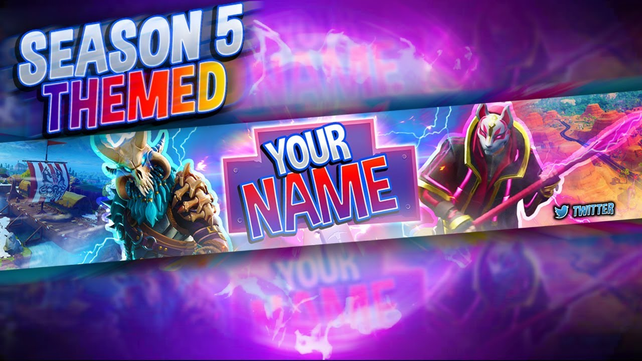2048 By 1148 Pixels Fortnite Banners: FREE Fortnite: Season 5 Themed Banner Template