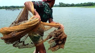 Cast Net Fishing in River।Fish hunting by Cast Net।Net fishing videos (part- 294)
