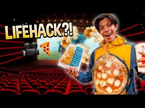 how to sneak an entire pizza into the movies.. (LIFE HACK)