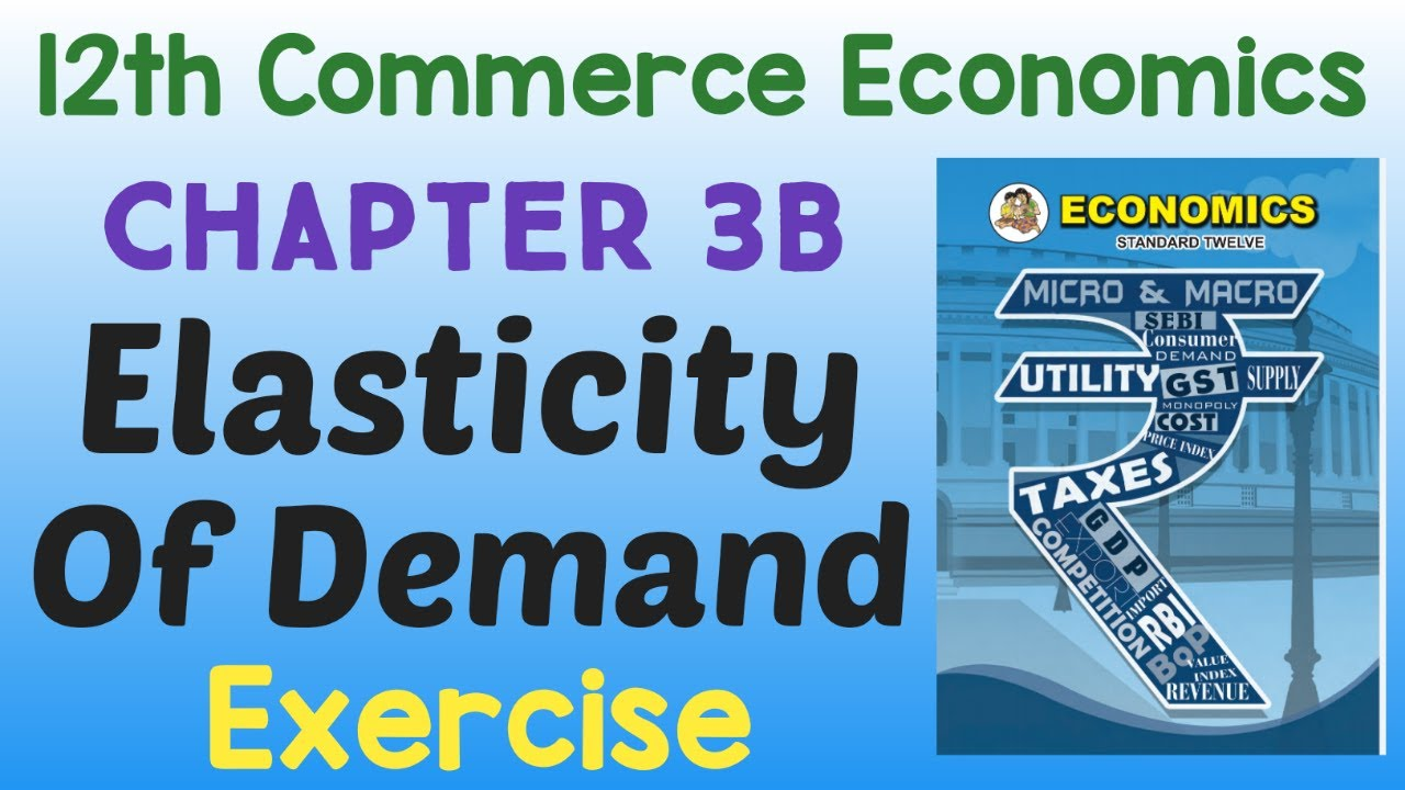 Chapter 3b Elasticity Of Demand 12th Economics Exercise