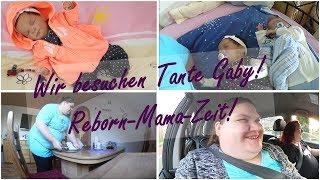 Wir besuchen Tante Gaby!    VLOG!    Reborn Baby Deutsch    Little Reborn Nursery