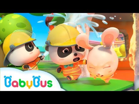 ❤ Baby Panda NEW Songs | I'm A Brave Firefighter | KIKI Rescues His Friends | BabyBus Songs For Kids