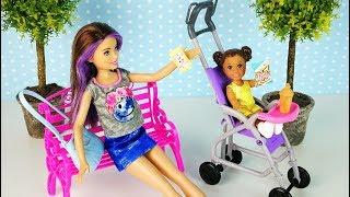Ляльки #Барбі Няня Скіппер і Супер Коляска Іграшки Для дівчаток Новий Набір Ikuklatv Школа