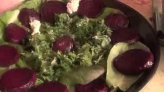 Салаты с молодым сыром. Часть 2. Салат с  печеной свеклой
