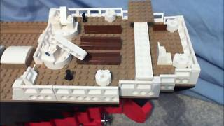 The making of Titanic in Lego