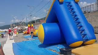 """Первый день ОСЕНИ! Пляж """"Морская звезда"""" в Лазаревском. Сейчас на солнце t  + 42 °C, сентябрь 2019"""