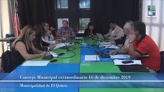 Concejo Municipal extraordinario 16 de diciembre 2019