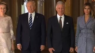 Raw: President Trump in Belgium for Meetings